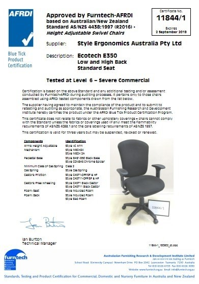 Ecotech E350 Low and High Back 11844/1