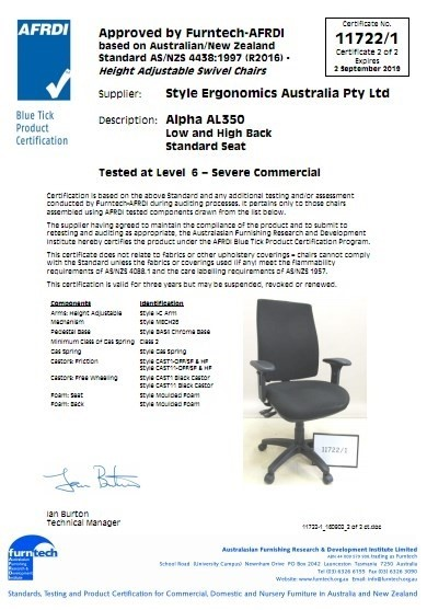 Alpha AL350 Low and High Back Standard Seat-11722-1