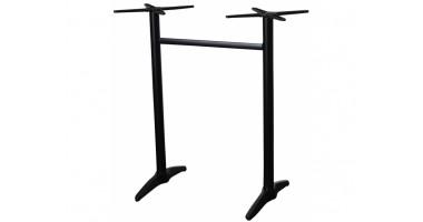 Astoria Black Aluminium Twin Bar Table Base